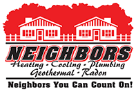 Neighbors heating cooling plumbing geothermal radon logo